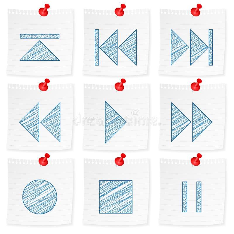 Papieranmerkungs- und Zeichnungsmediasymbol vektor abbildung