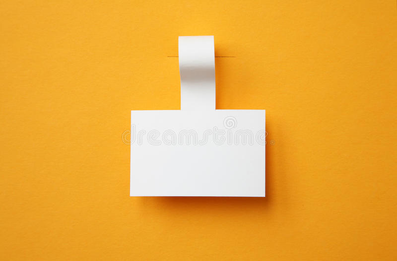 Papieraufkleber lizenzfreie stockfotos