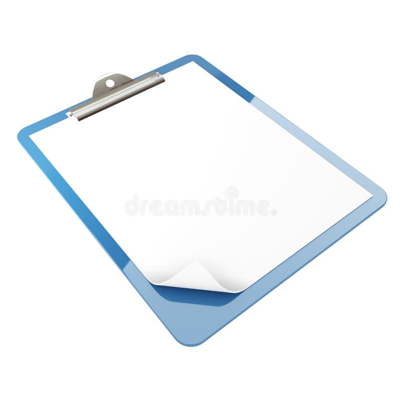 Papierauflagehalterung lizenzfreie abbildung