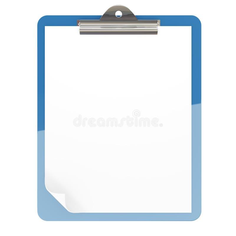 Papierauflagehalterung stock abbildung