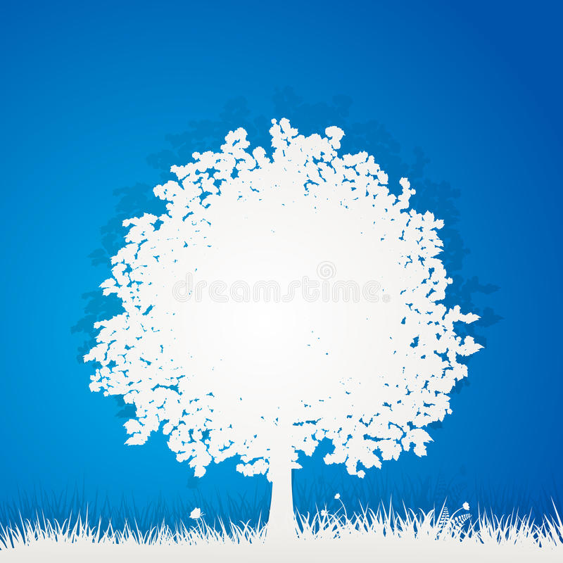 Papierbaum lizenzfreie abbildung