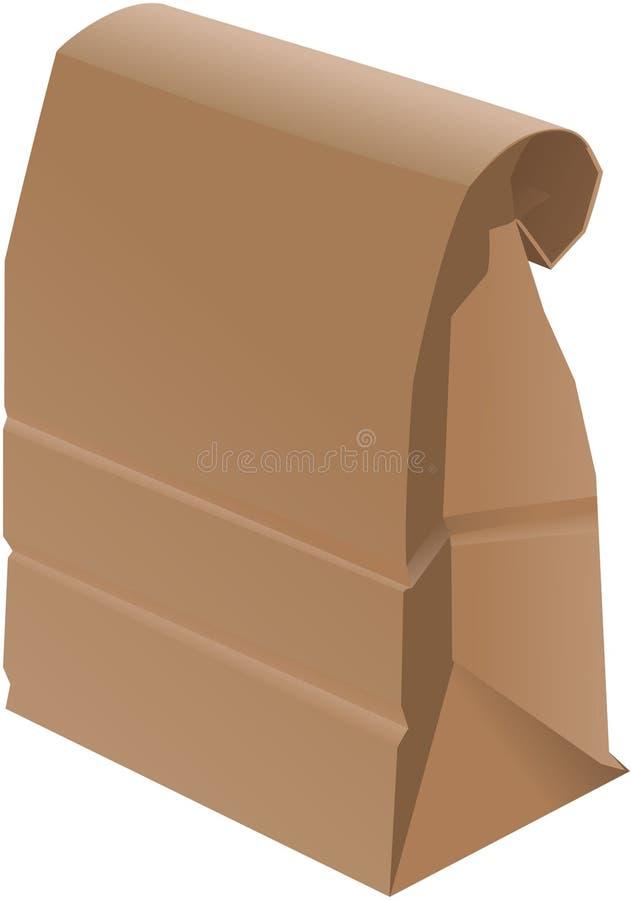 Papierbeutel - gefaltet stock abbildung