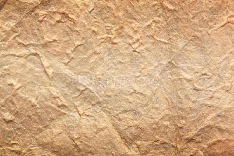 Papierblatt des braunen Papiers der beschaffenheit stockfoto