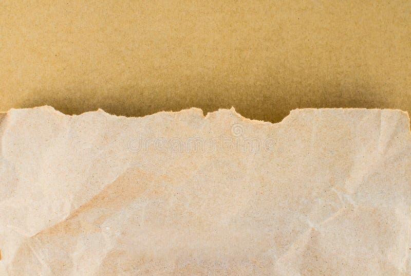 Papierblatt des braunen Papiers der beschaffenheit lizenzfreies stockfoto