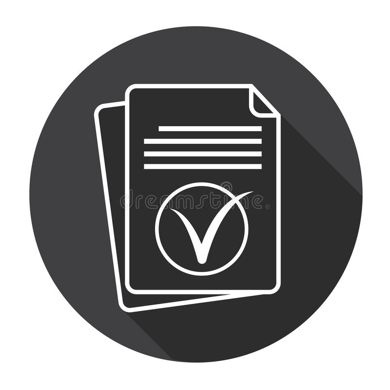 Papierblatt Tick Document Contract Web Icon lizenzfreie abbildung
