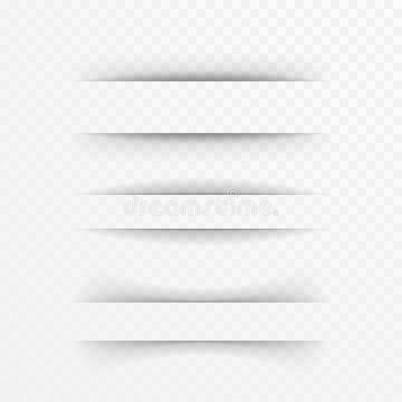 Papierblattschatteneffekt vektor abbildung