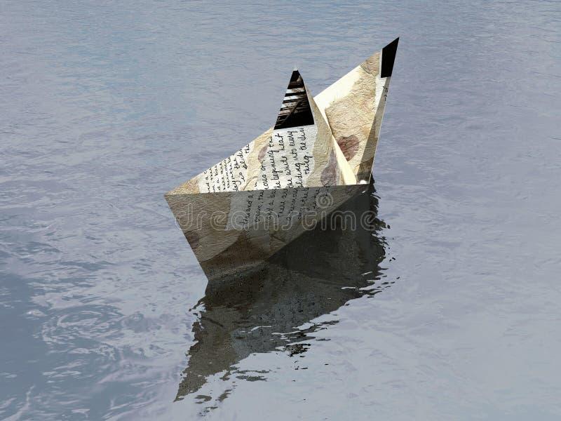 Papierboot 1 vektor abbildung