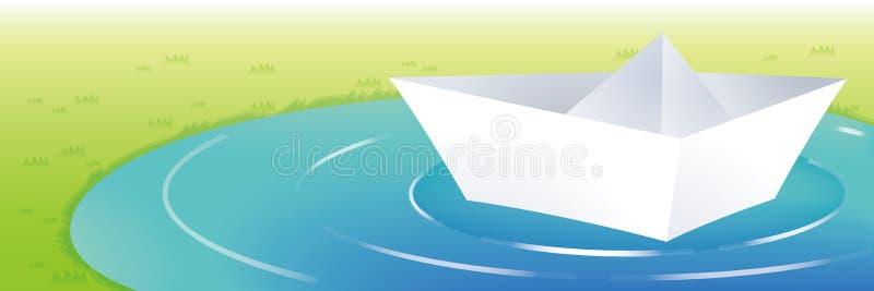 Papierboote stock abbildung