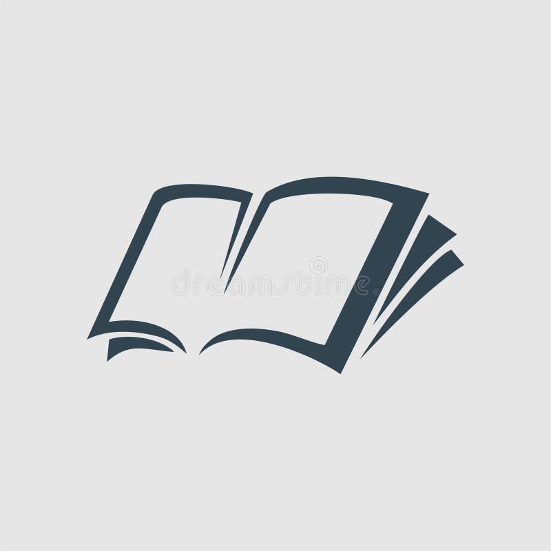 Papierbuch-Monogrammlogoinspiration lizenzfreies stockbild