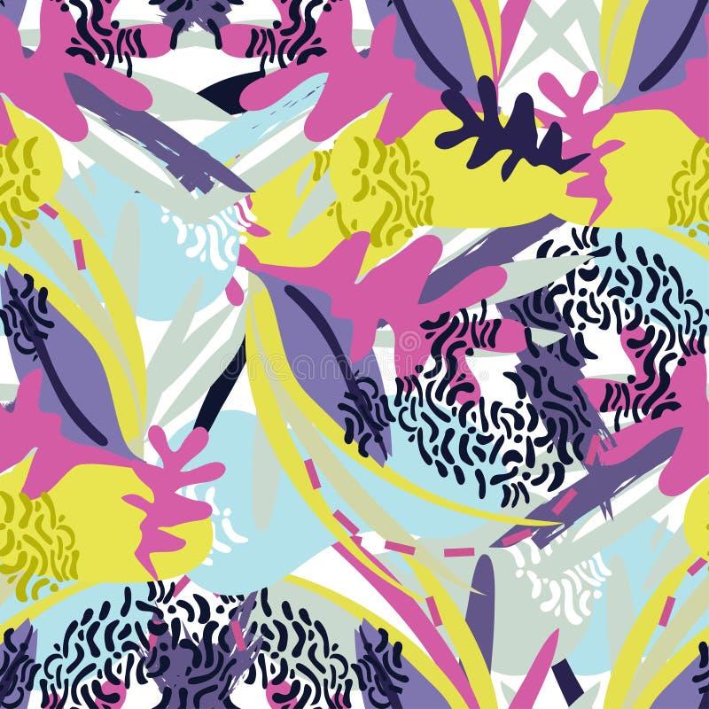 Papiercollage der abstrakten Florenelemente lizenzfreie abbildung