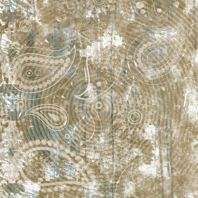 Papiercollage der abstrakten Florenelemente Vektorillustrationshand gezeichnet Skizze bereit zum zeitgen?ssischen skandinavischen lizenzfreie abbildung