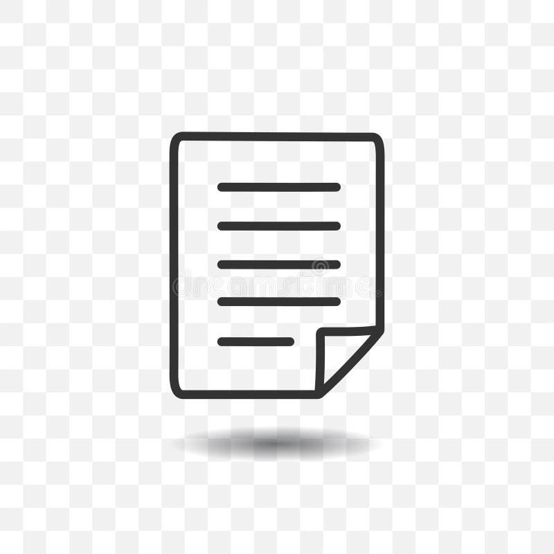 Papierdokumentenikone lizenzfreie abbildung