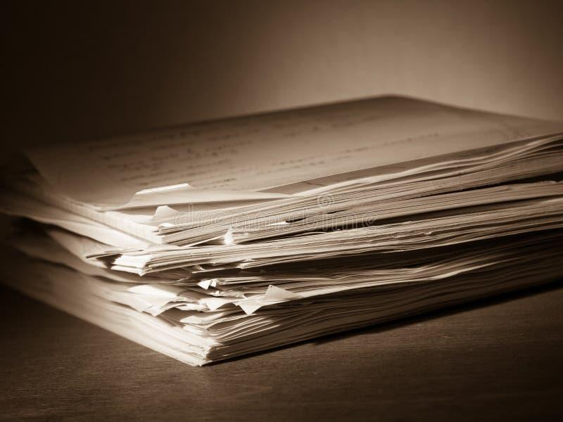 Papiere lizenzfreie stockfotos