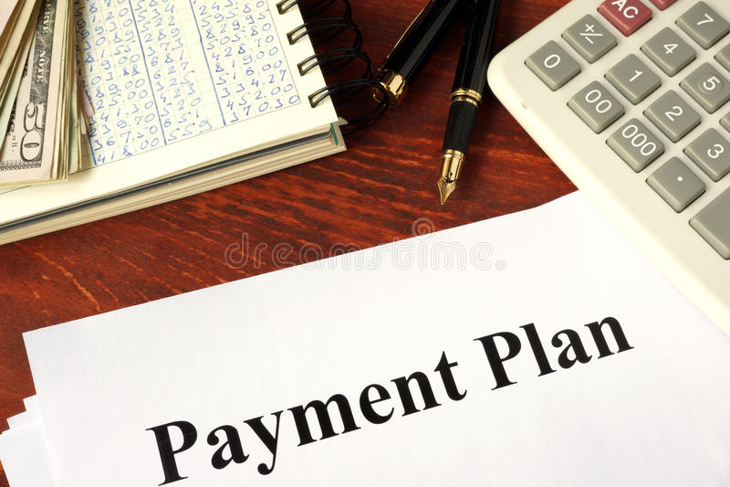 Papiere mit Titelzahlungsplan lizenzfreies stockfoto