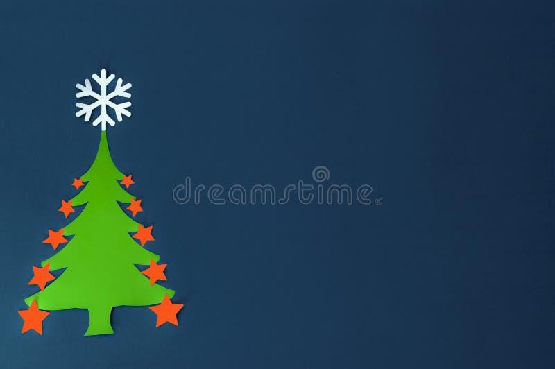 Papieren kerstboom stock fotografie