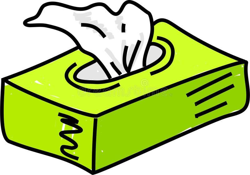 Papieren zakdoekje vector illustratie