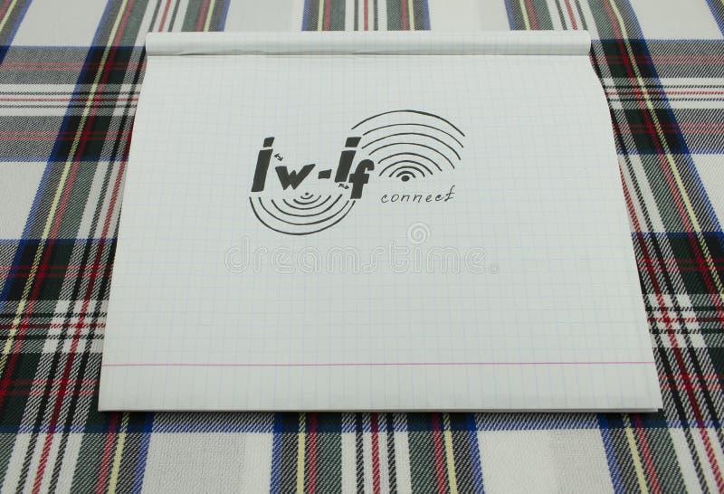 Papierentwurf wifi stockfotos