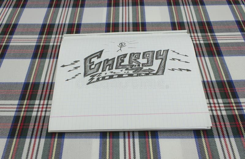Papierentwurfsenergie lizenzfreies stockbild