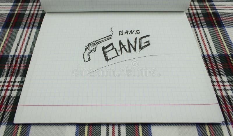 Papierentwurfsknallgewehr stockfoto