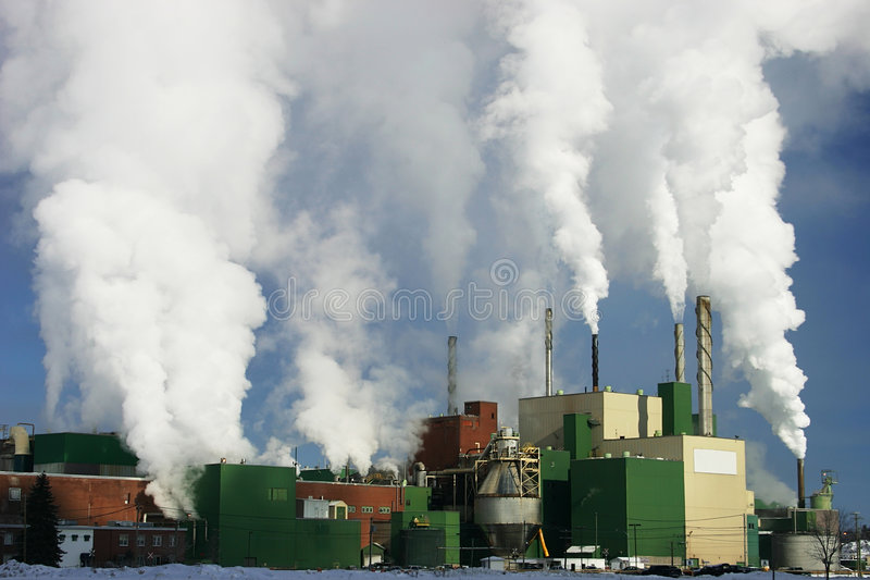Papierfabriek 2 royalty-vrije stock fotografie
