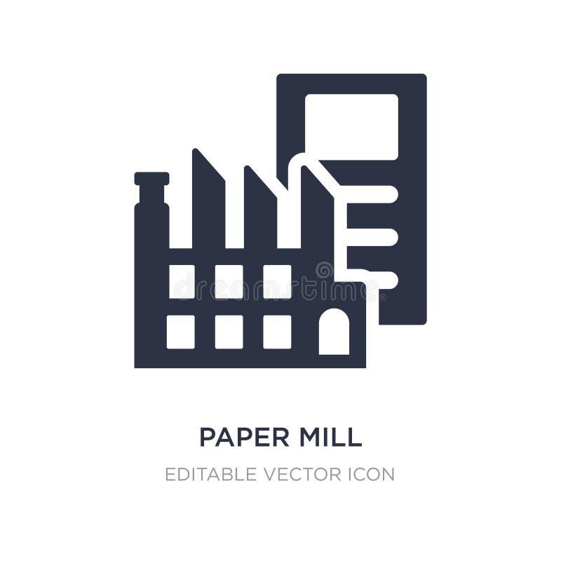 papierfabriekpictogram op witte achtergrond Eenvoudige elementenillustratie van Algemeen concept vector illustratie