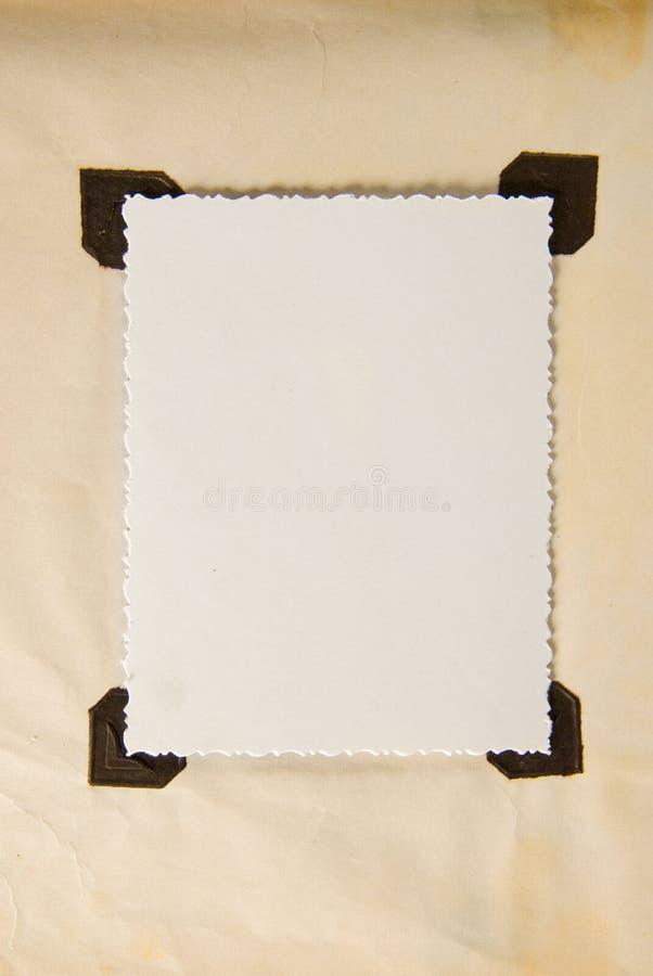 Papierfeld stockbild