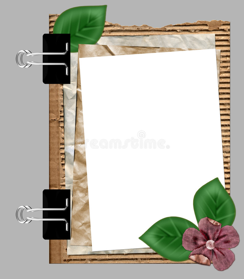 Papierfeld mit Blume vektor abbildung