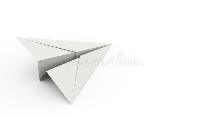 Papierfläche auf weißem Hintergrund-Konzept-Hintergrund lizenzfreie abbildung