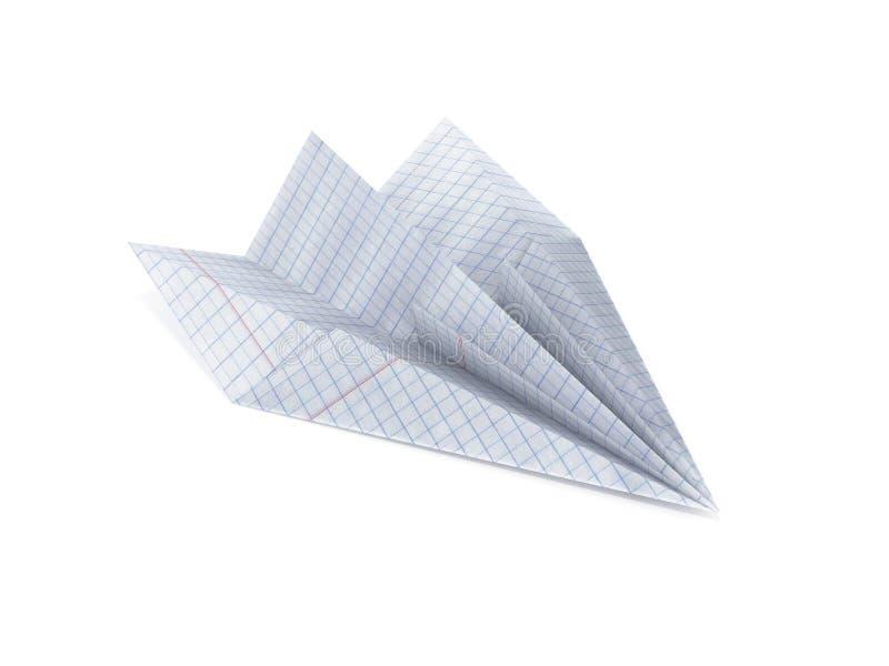 Papierfläche hergestellt mit dem Zeichenpapier mit Maßeinteilung lokalisiert auf weißem Hintergrund 3d vektor abbildung