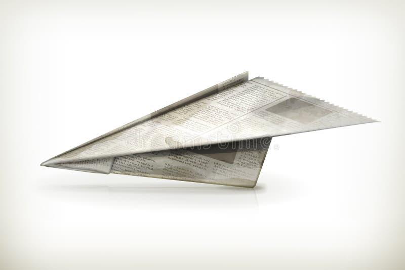Papierflugzeug lizenzfreie abbildung