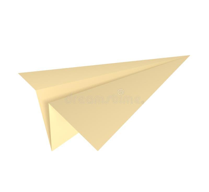 Papierflugzeug getrennt auf Weiß lizenzfreie abbildung