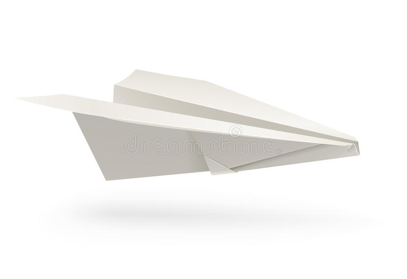 Papierflugzeug origami lizenzfreie abbildung