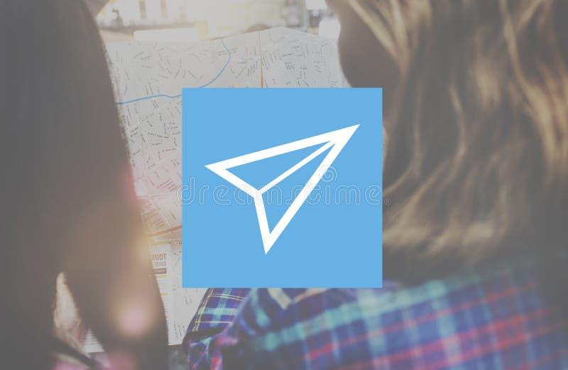 Papierflugzeug-Rocket Launch Growth Success Startup-Konzept stockfotos