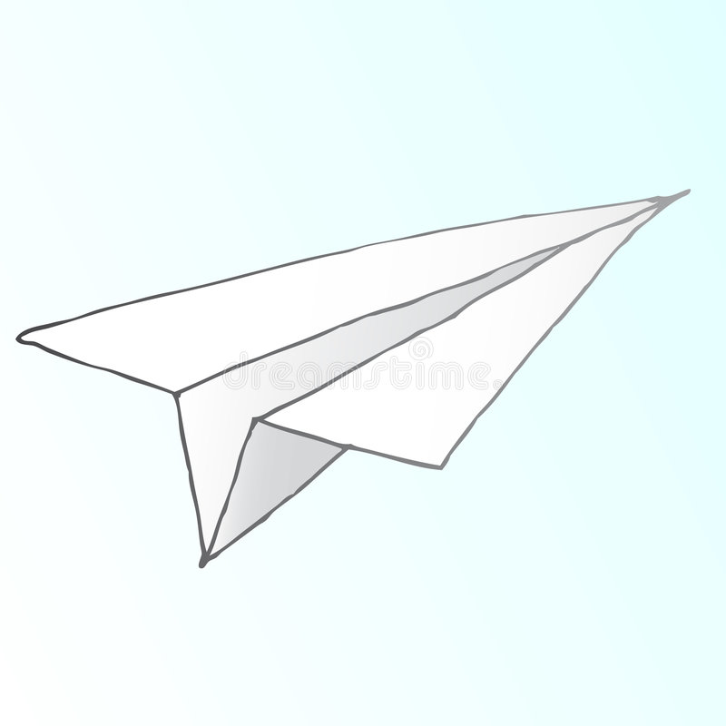Papierflugzeugvektor vektor abbildung