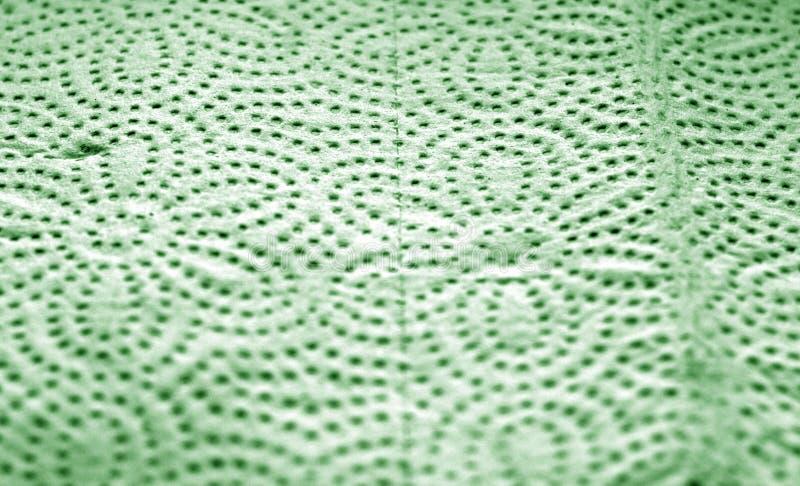 Papierhandtuchoberfläche mit Unschärfeeffekt in der grünen Farbe lizenzfreie stockbilder
