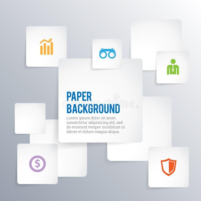 Papierhintergrund Copyspace vektor abbildung