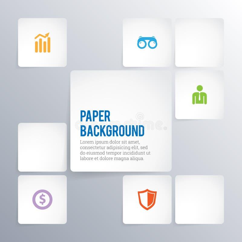 Papierhintergrund Copyspace stock abbildung