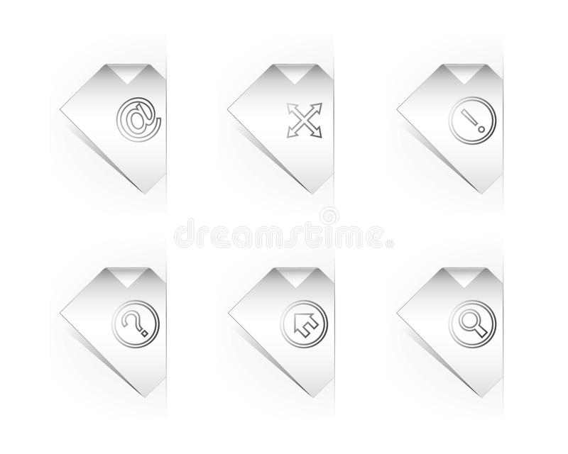 Papierikonen für site-Auslegung lizenzfreie abbildung