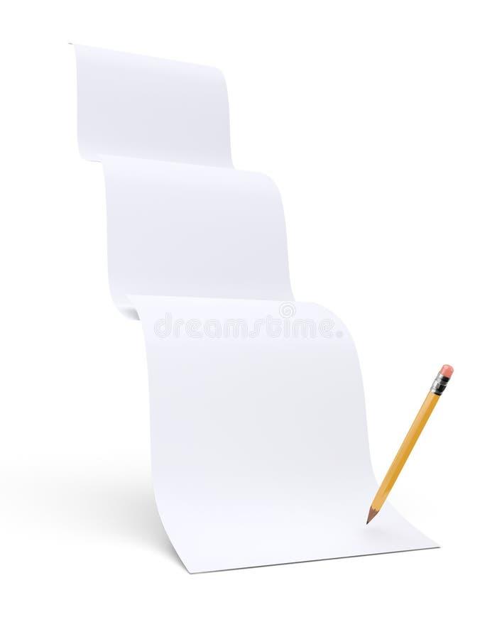 Papierjobsteps lizenzfreie abbildung