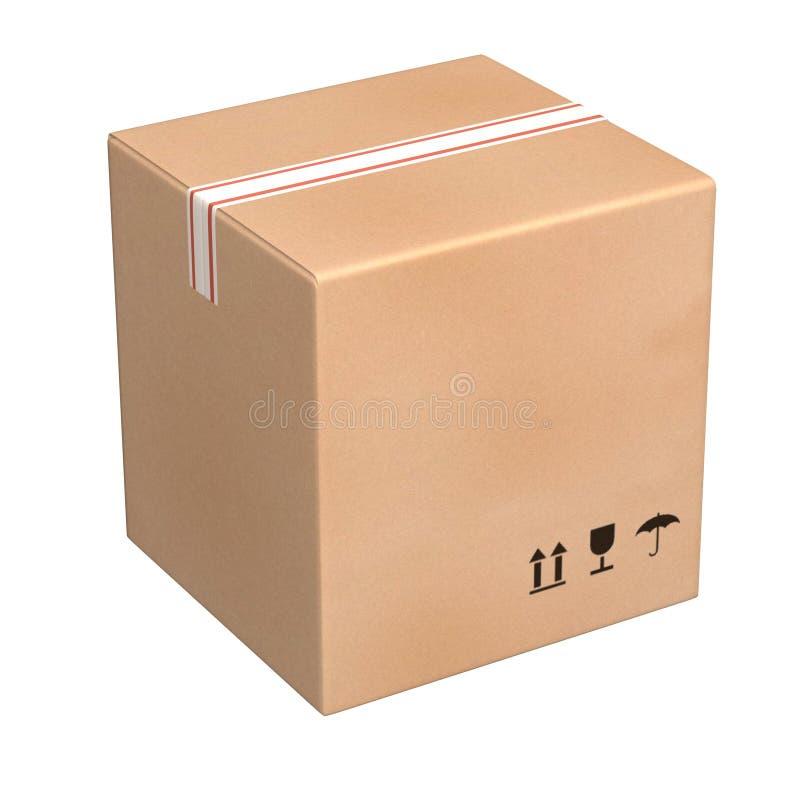 Papierkastenpaket lizenzfreie abbildung