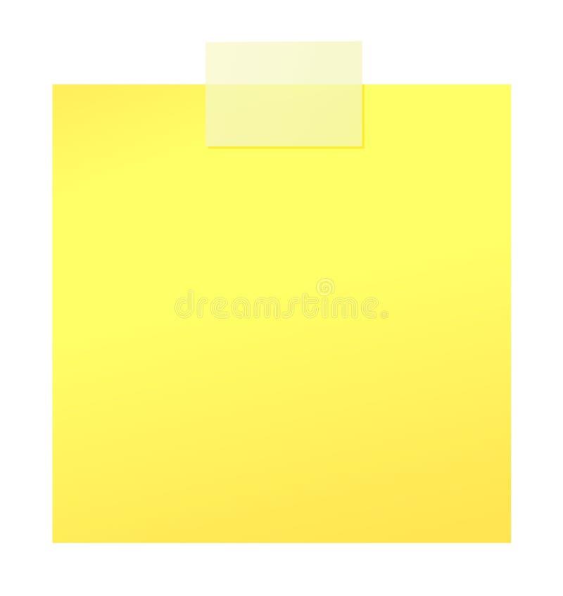Papierklebstreifen und Aufkleber lizenzfreie abbildung