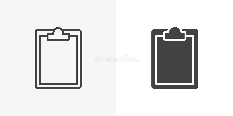 Papierklemmbrettikone lizenzfreie abbildung