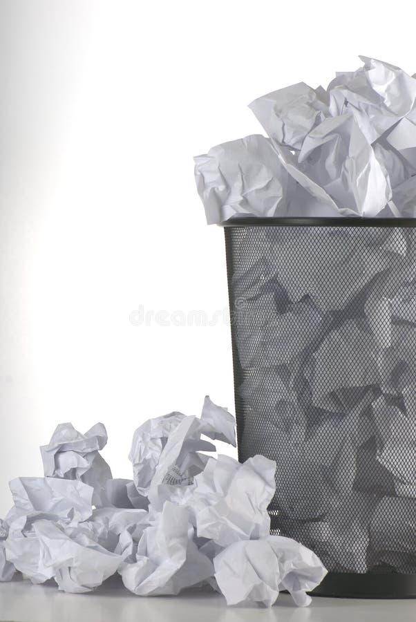 Papierkorb stockfoto