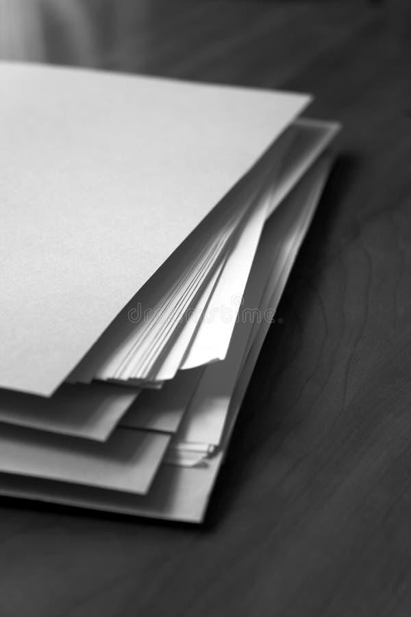 papierkowa robota fotografia stock