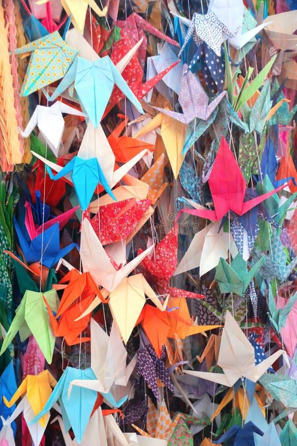Papierkräne, Hiroshima, Japan stockfoto