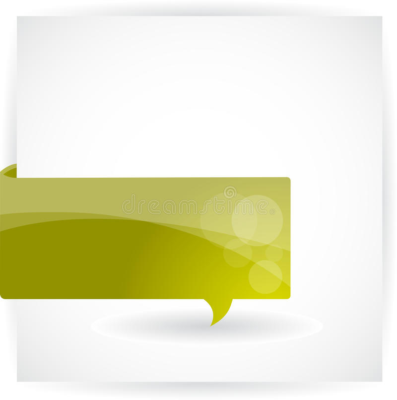 Papierluftblasenfahne stock abbildung