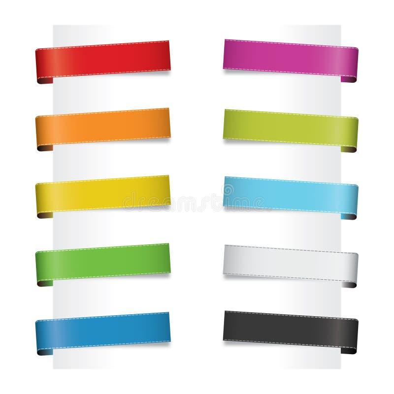 Papiermarken lizenzfreie abbildung