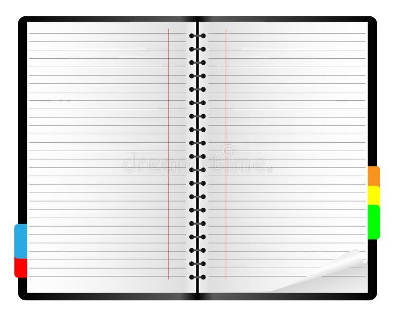 Papiernotizbuch. lizenzfreie abbildung