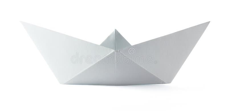 Papierorigami Boot stockfoto