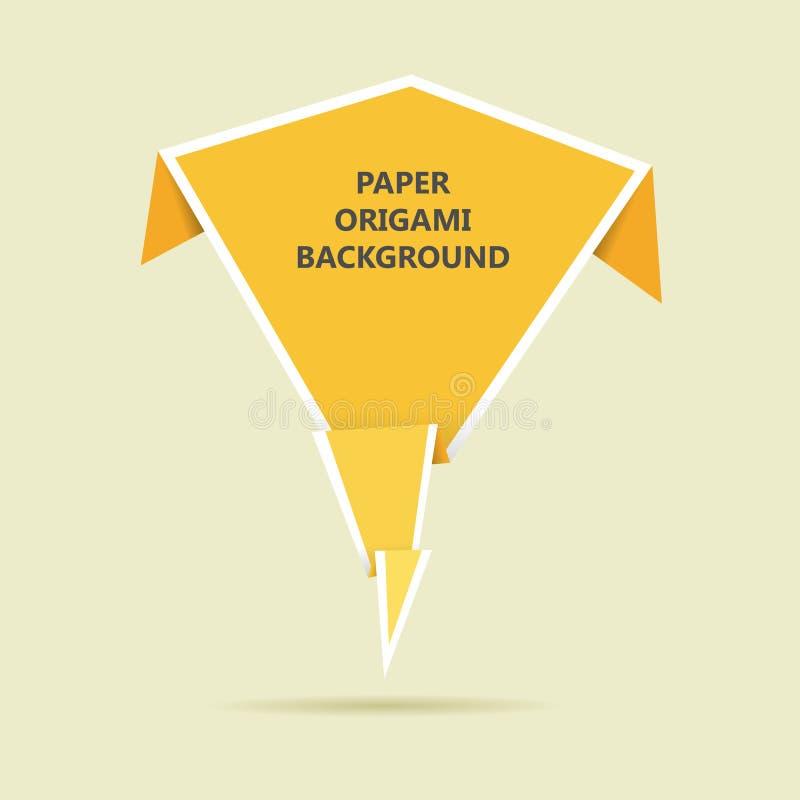 Papierorigami-Hintergrund stock abbildung